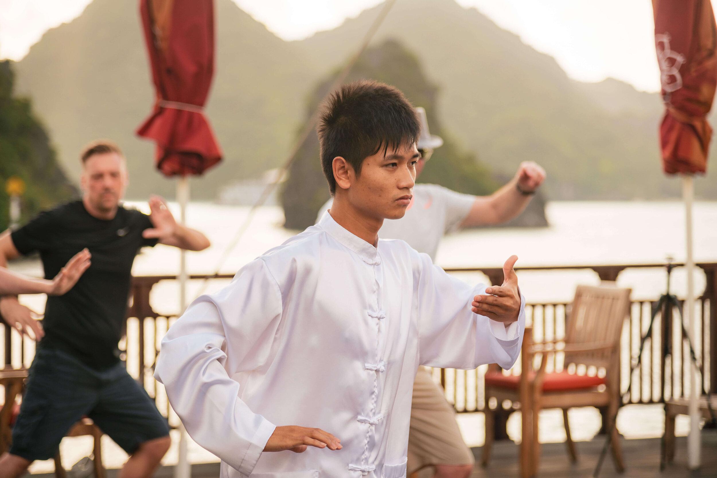 Ginger Cruise Heritage Line - Lan Ha Bay - Ginger - Tai chi classes