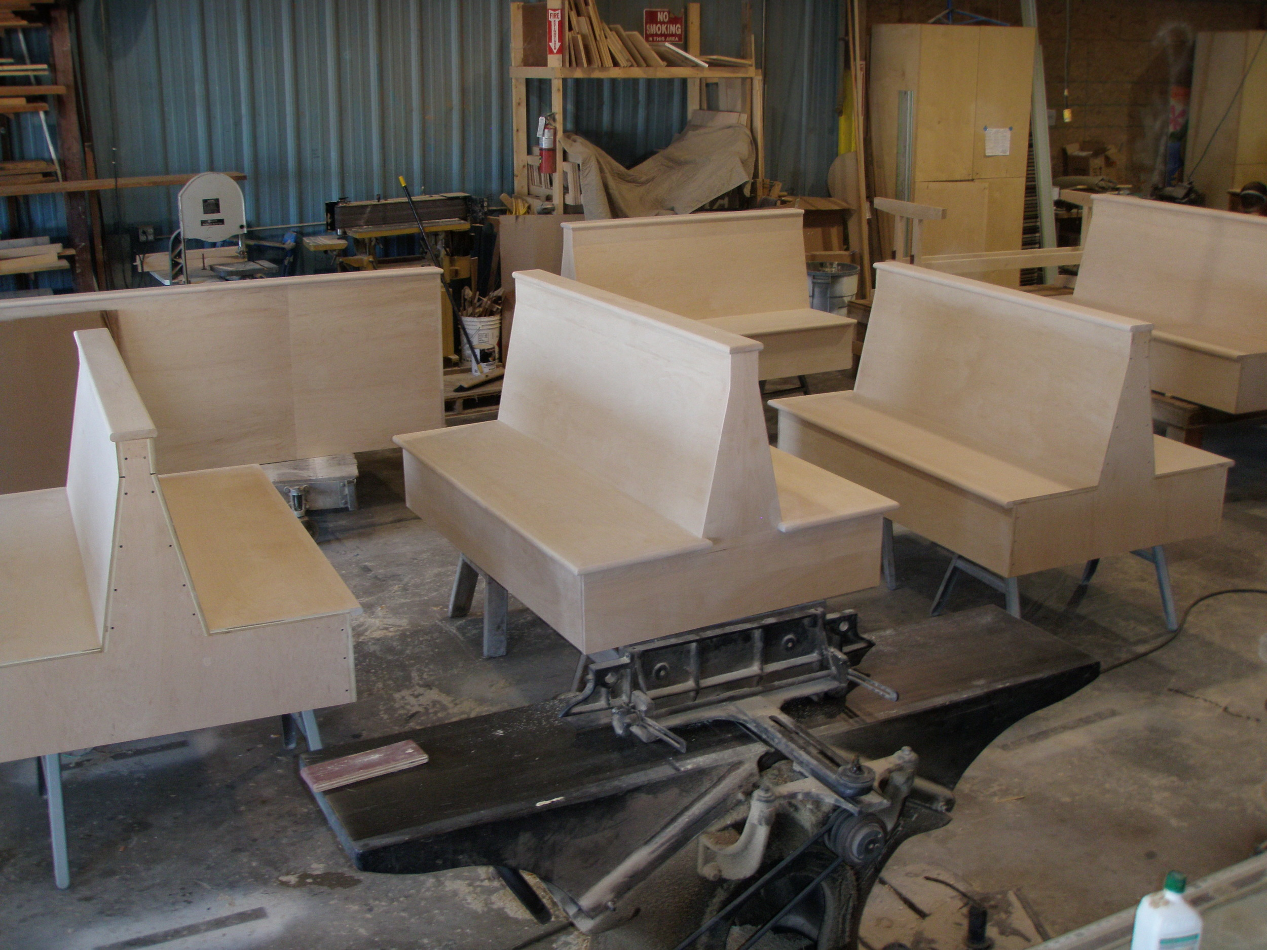 Custom booths in production