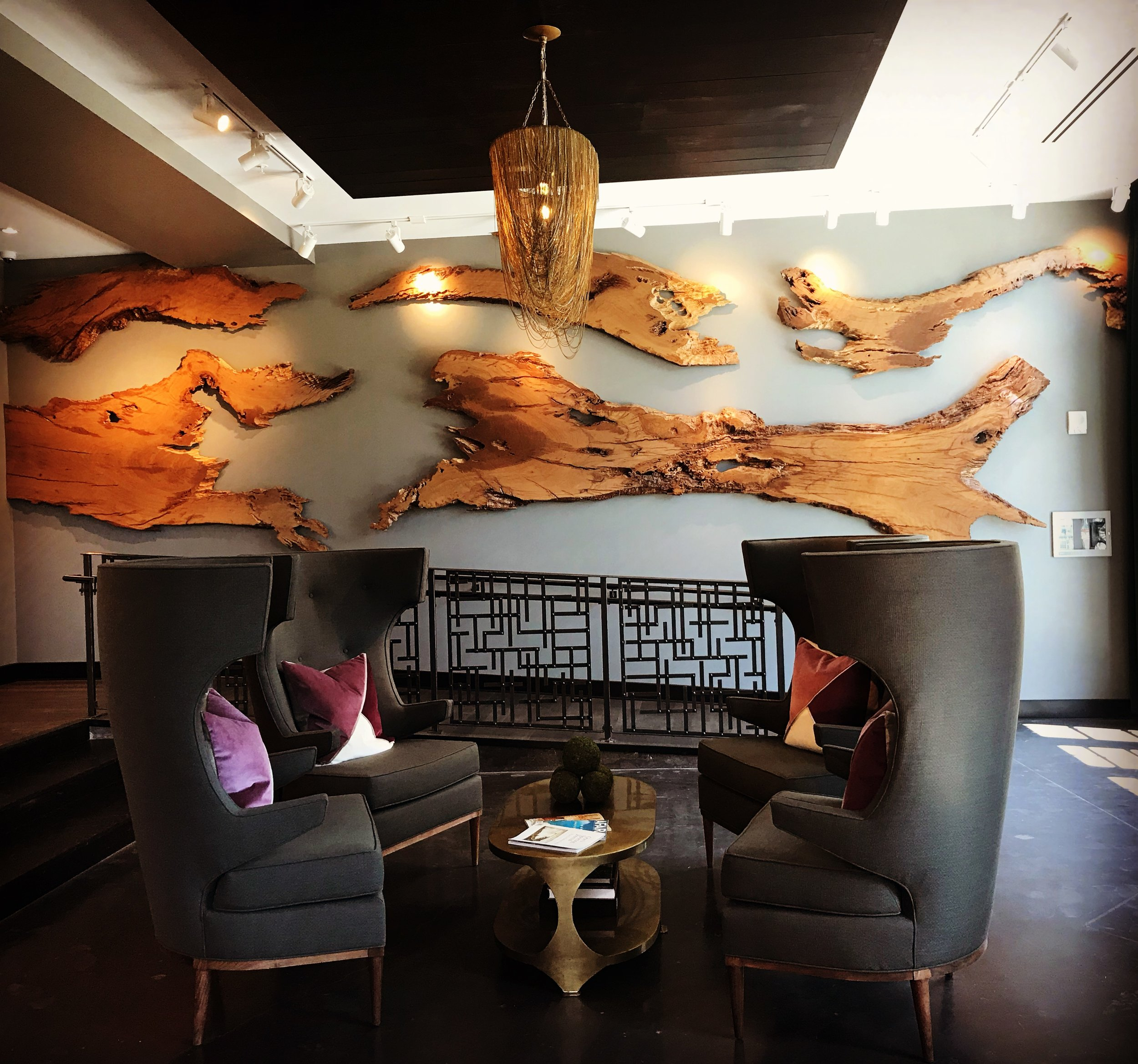 Live Edge Wall Sculpture / The Guild @ Courier Square / Charleston, SC