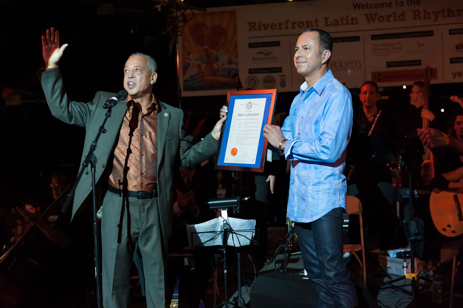 "September 2013, Hartford, CT- Mayor Pedro Segarra proclaims ""Daniel Salazar Day"" in the City of Hartford."