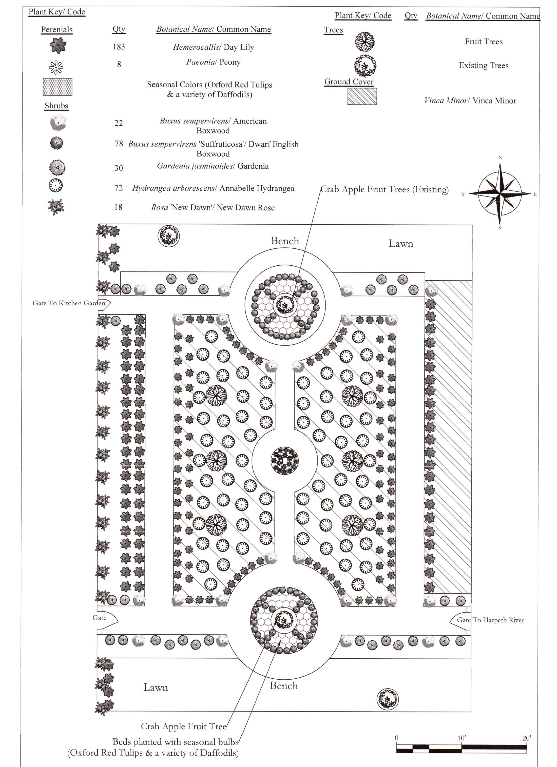Formal Garden Design for a Historic Home