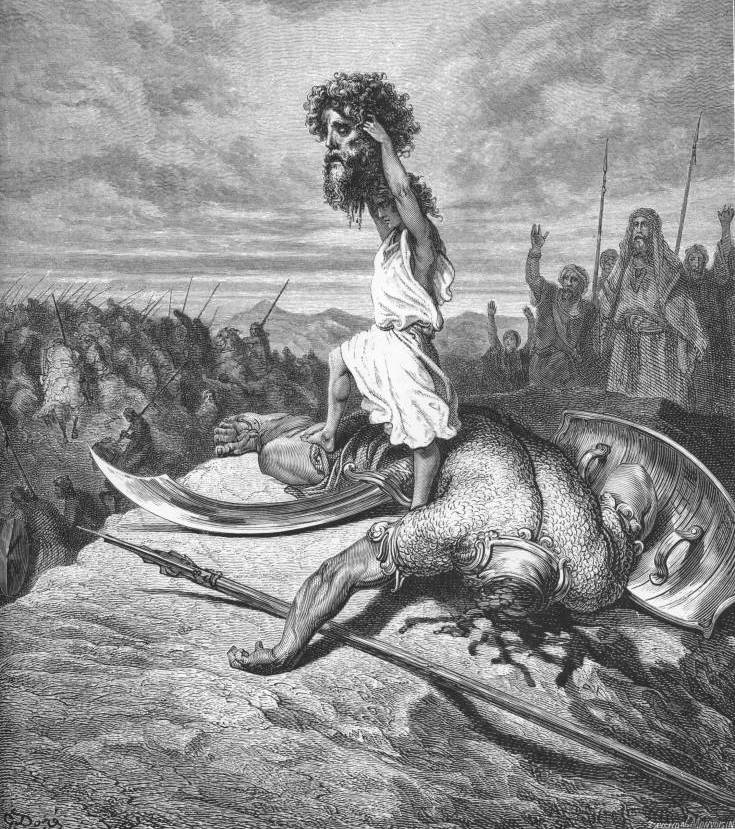 David and Goliath by Gustave Doré
