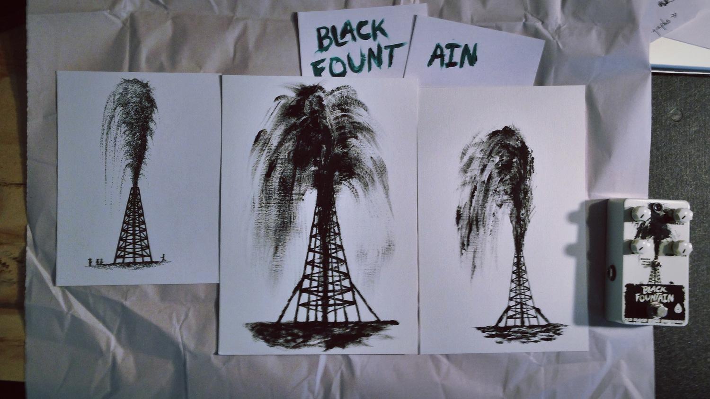 sam's original pieces he used to composite the black fountain artwork.