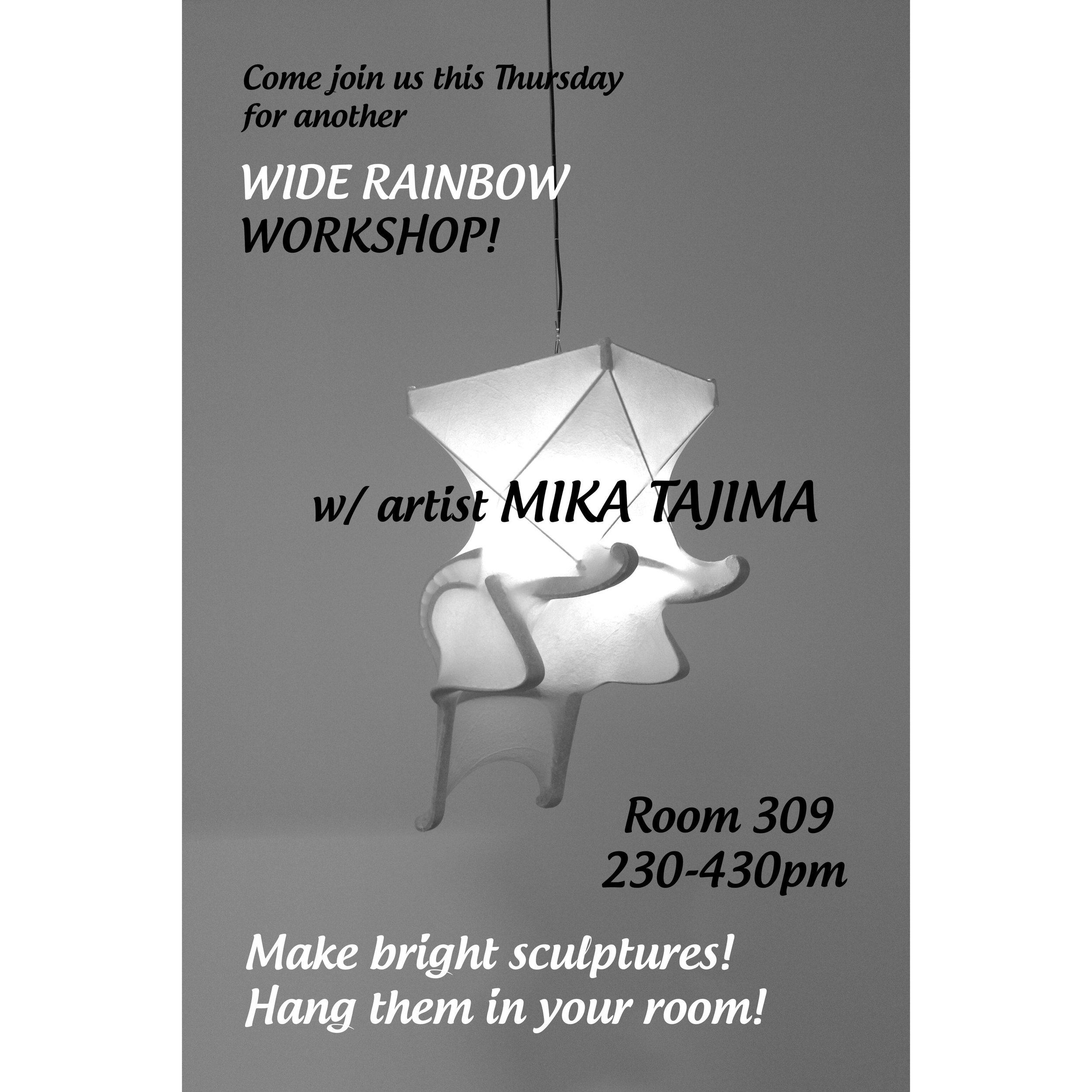 Mika Tajima Wide Rainbow Workshop Flyer
