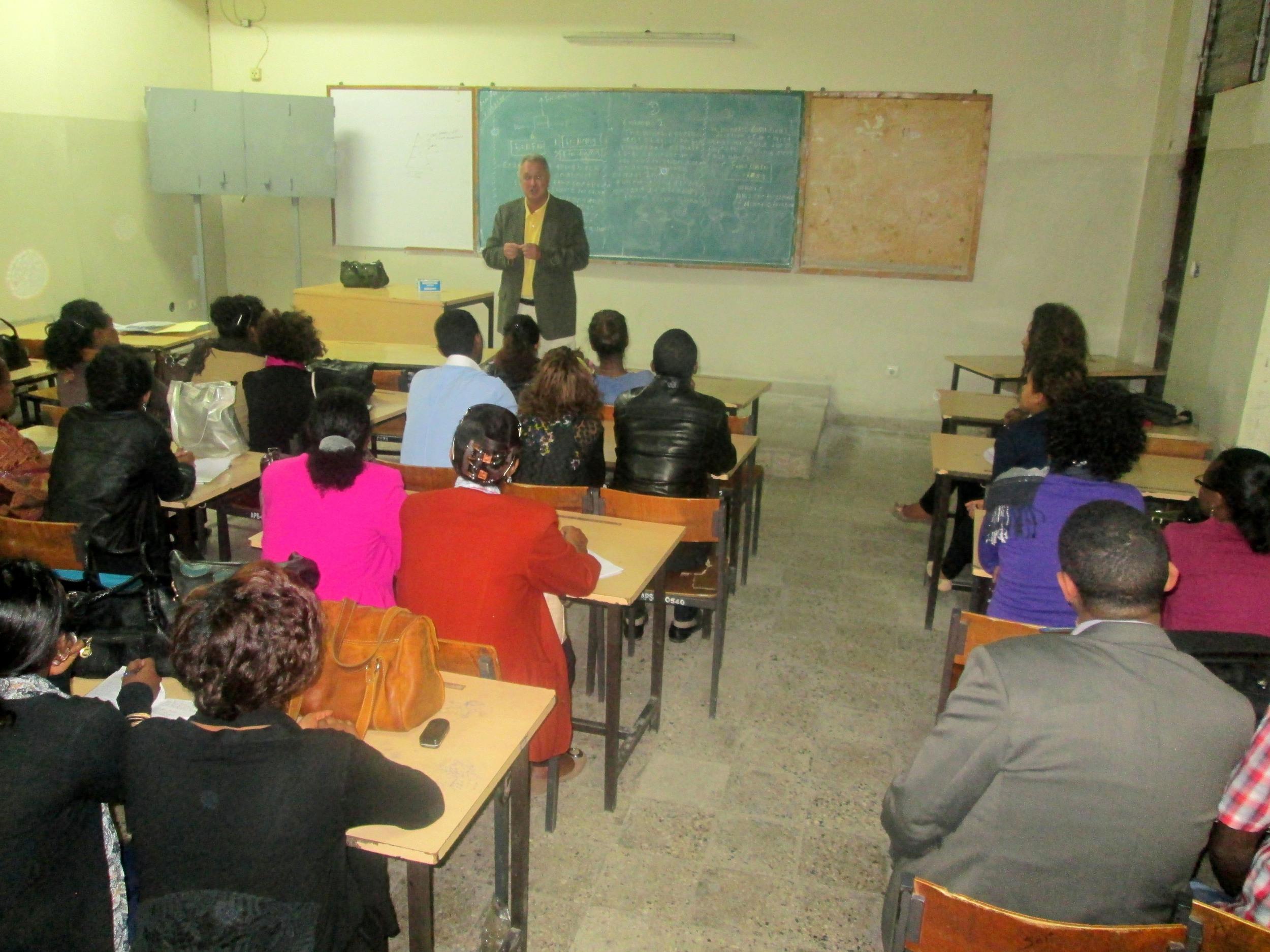 PJB III INSTRUCTING STUDENTS AT ADMAS UNIVERSITY