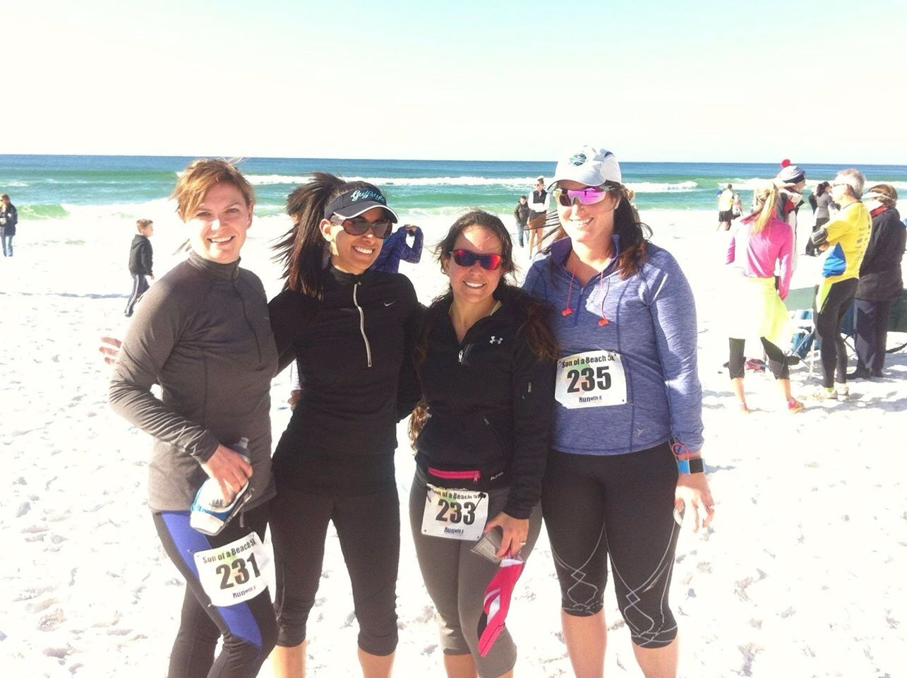 Me and the crew after the Son of a Beach 5k last February