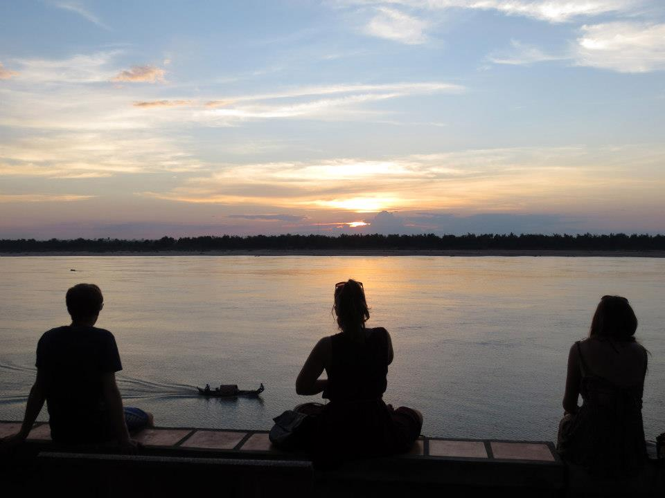 Mekong sunset gazing