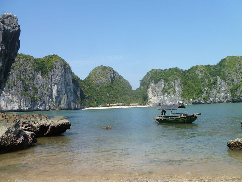 The Magnificent Karsts of Catba Island, North Vietnam, Halong Bay