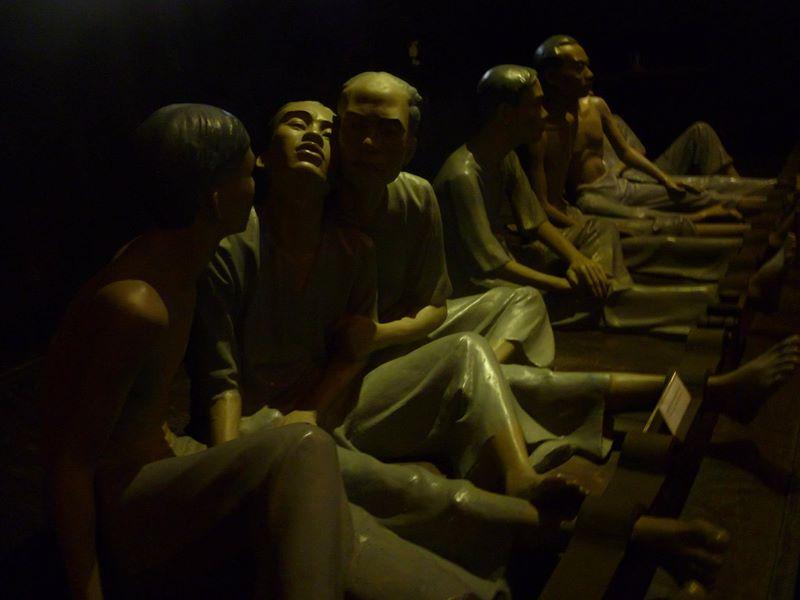 Emaciated mannequins  - prisoners of war