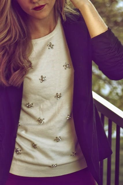 A jacket helps to tone down sparkle during the day.
