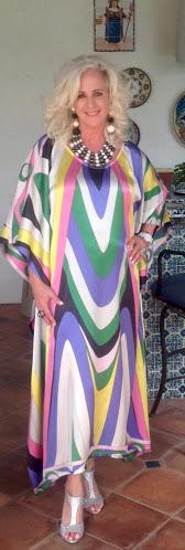 Carla wearing one of her beautiful designs!