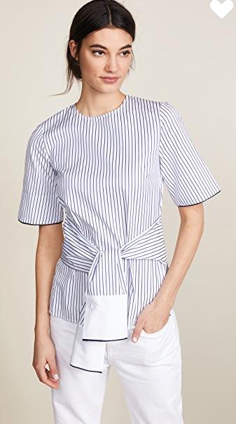 Love the waist tie detail on this Victoria Beckham top