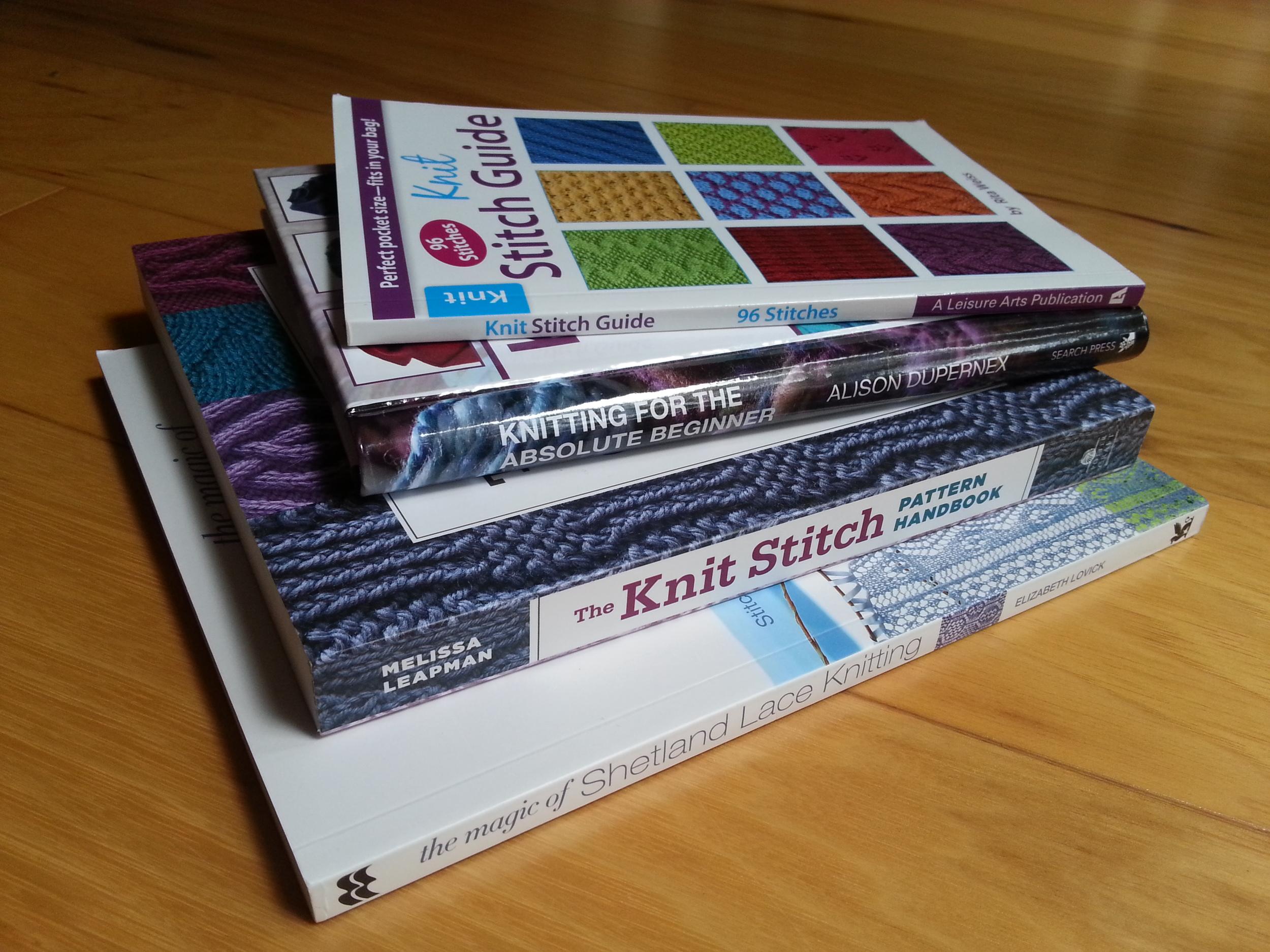 My reference books. I like stitchionariesa lot.