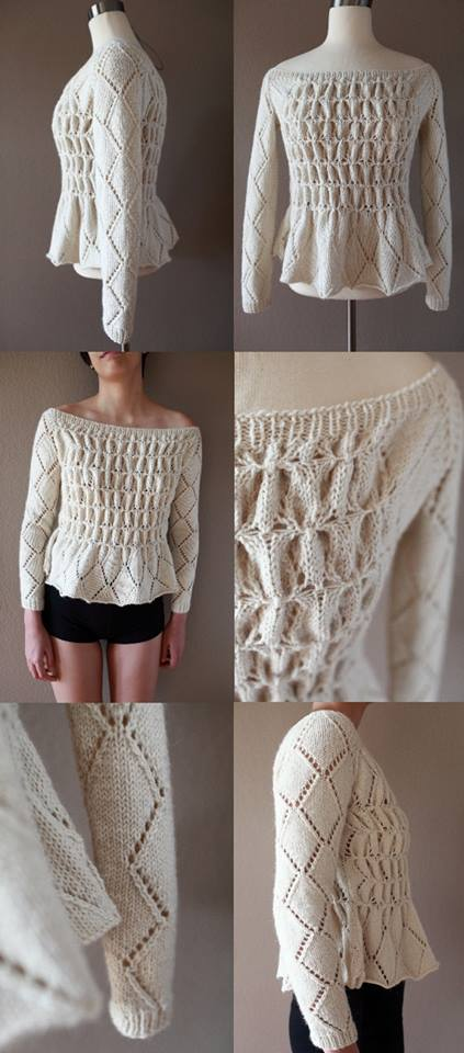 And here is my rendition of this pullover!