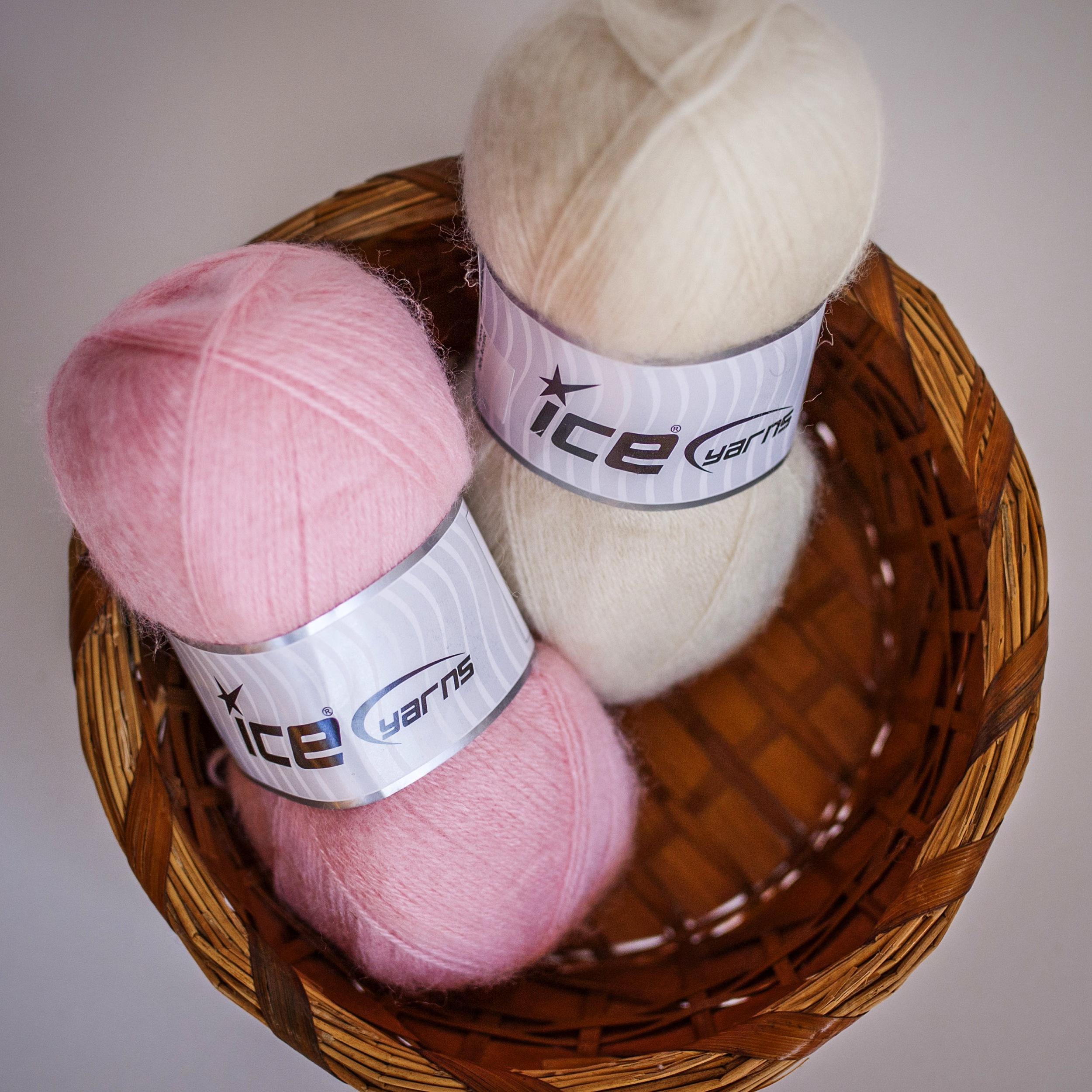 Ice Yarn's Angora. Such fluffy. Much wool.