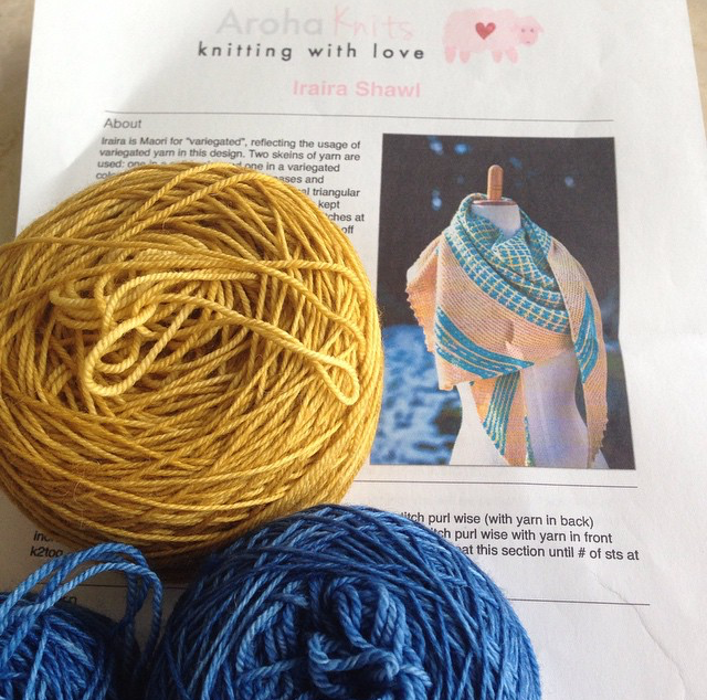 My Iraira shawl was chosen as the hostess's first cast-on project for the KAL!
