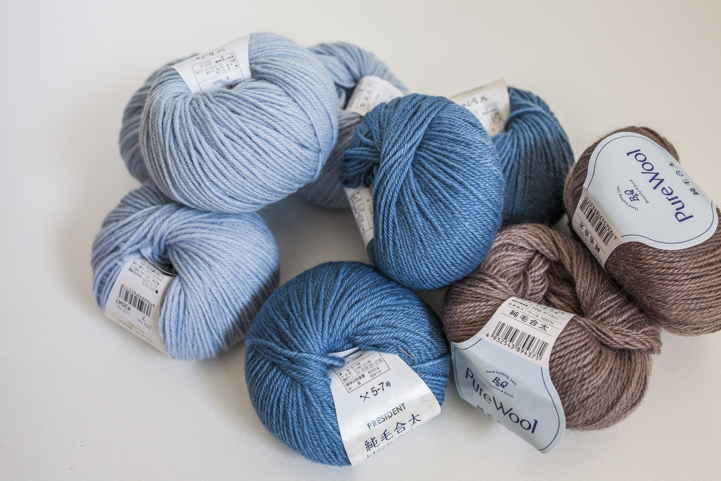 Yarns that I would never give away because they are so scratchy