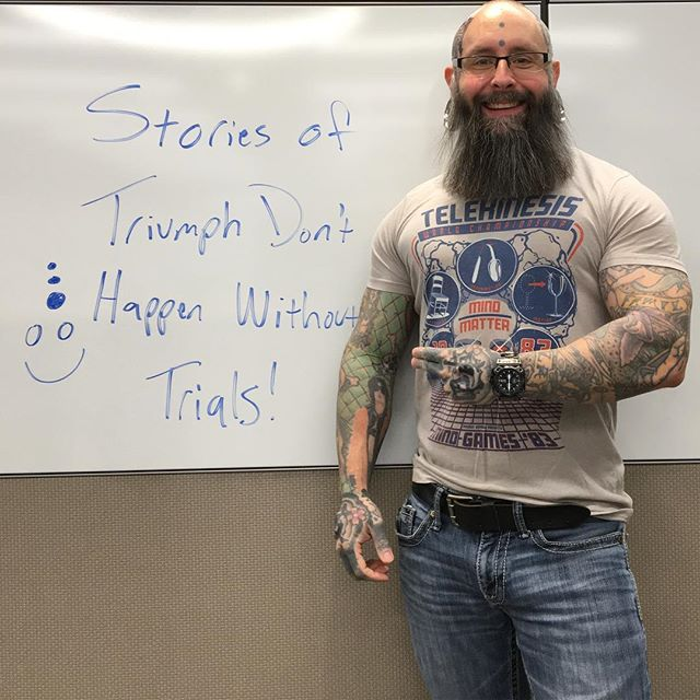 Forget about how much enduring your trials sucks & focus on how you're handling those challenges! You're just working on your story of strength and triumph which you don't earn without those challenges so make shit happen and kick all the ass!  @nfw.watch.company @maidenvoyageco #kickass #triumph #trials #strength #tattoos #tattoo #beards #bodybuilding #telekinesis #maidenvoyage #badass #timepiece #lifecoach #mindset #fitness #goals #pma #positivevibes #goodvibes