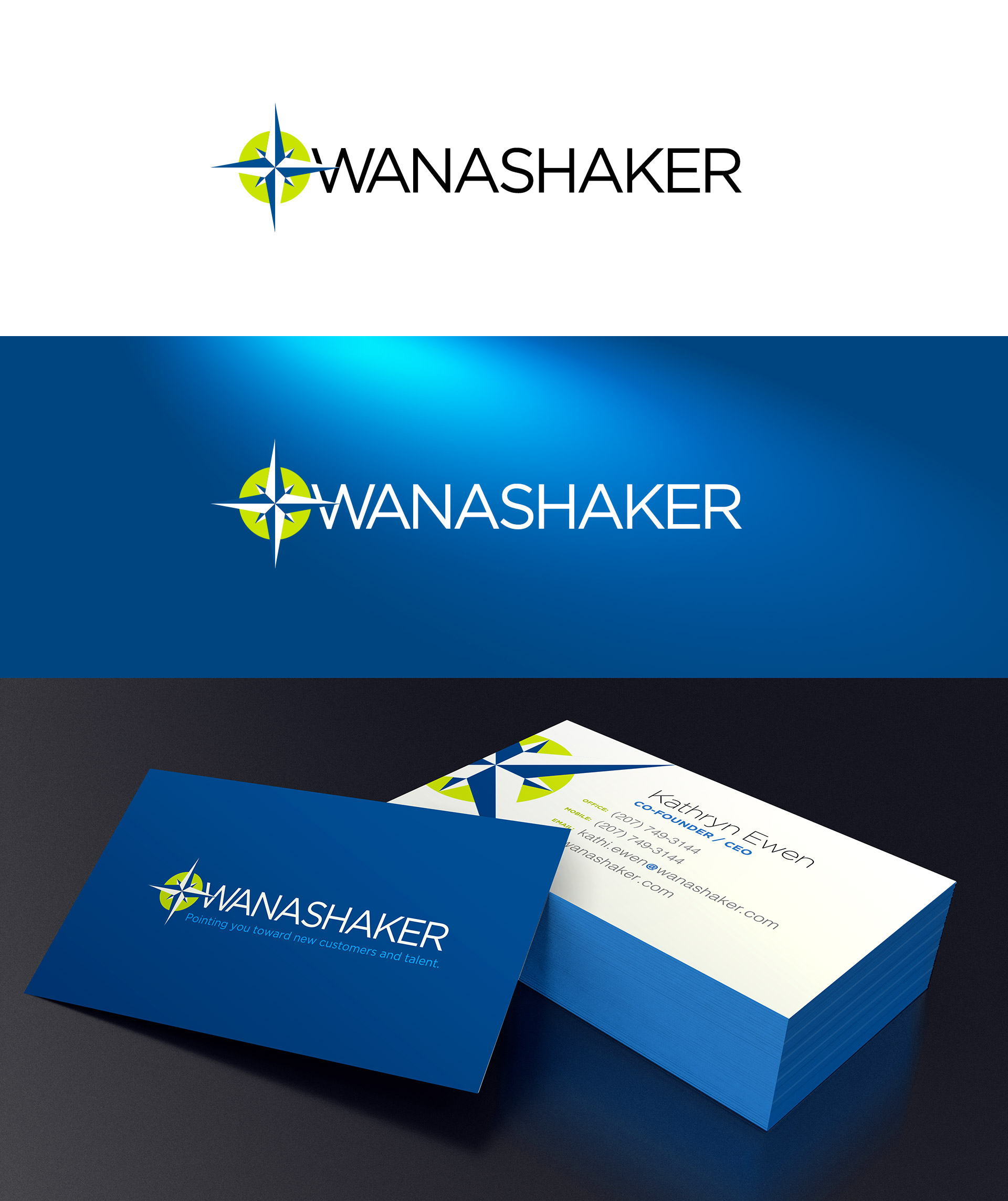 BRAND IDENTITY - Both a logo and business card concept was developed in the spirit of their adventurous message.