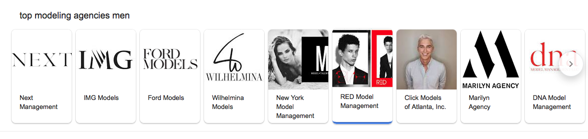 RED MODEL MANAGEMENT — JOCK HALL THE AGENCY
