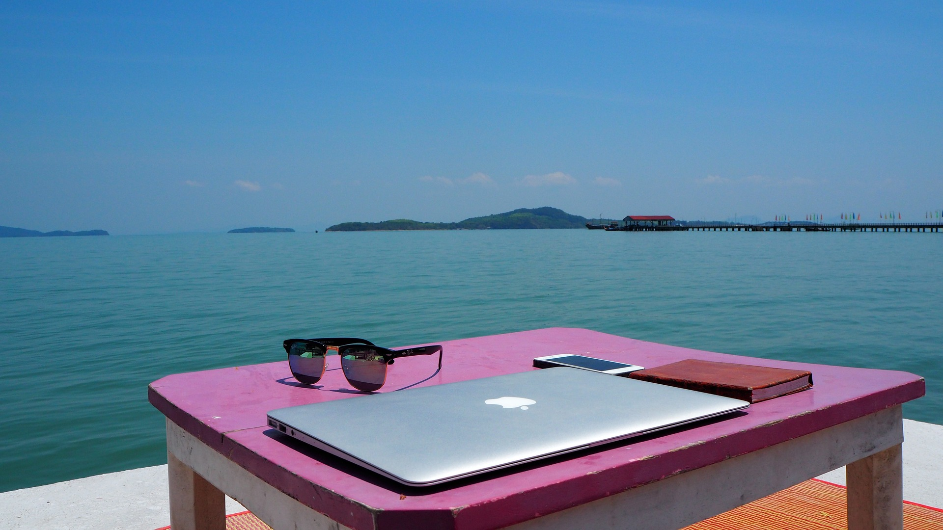 Working remotely by the water
