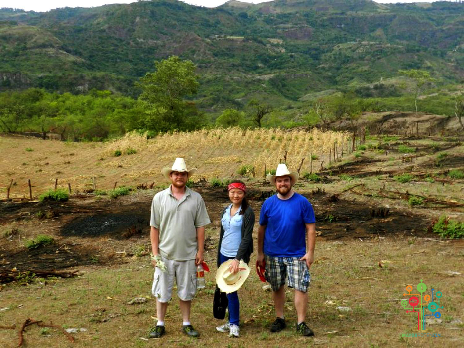 Members of the Team Stand in the Honduran Fields