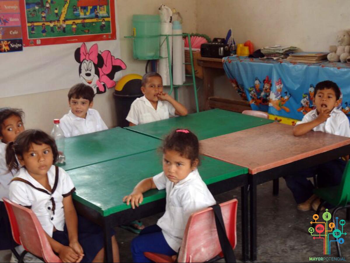Children Interact in Class