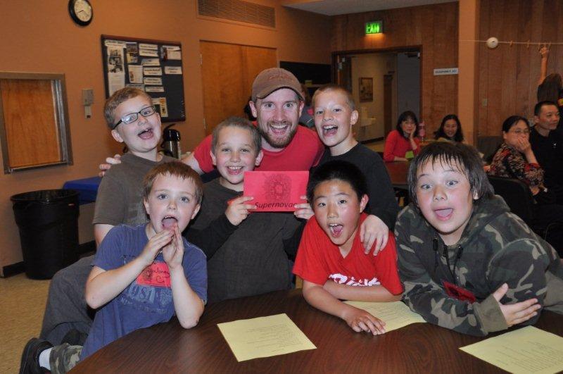 Boys at kids camp class