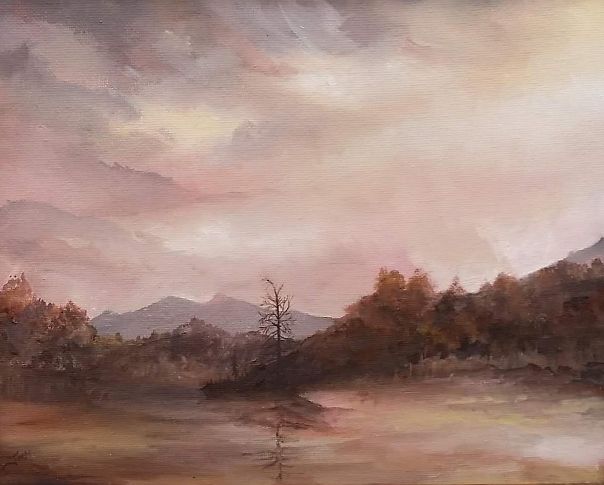 "Ticonderoga Ferry Ride | 2018 | SOLD  Oil on canvas, 10"" x 8"" (11"" x 9"" framed)"