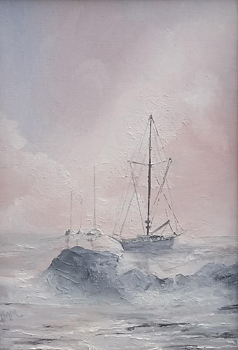 "Nantucket Harbor | 2018 | SOLD  Oil on canvas, 5"" x 7"" (8"" x 10"" framed)"