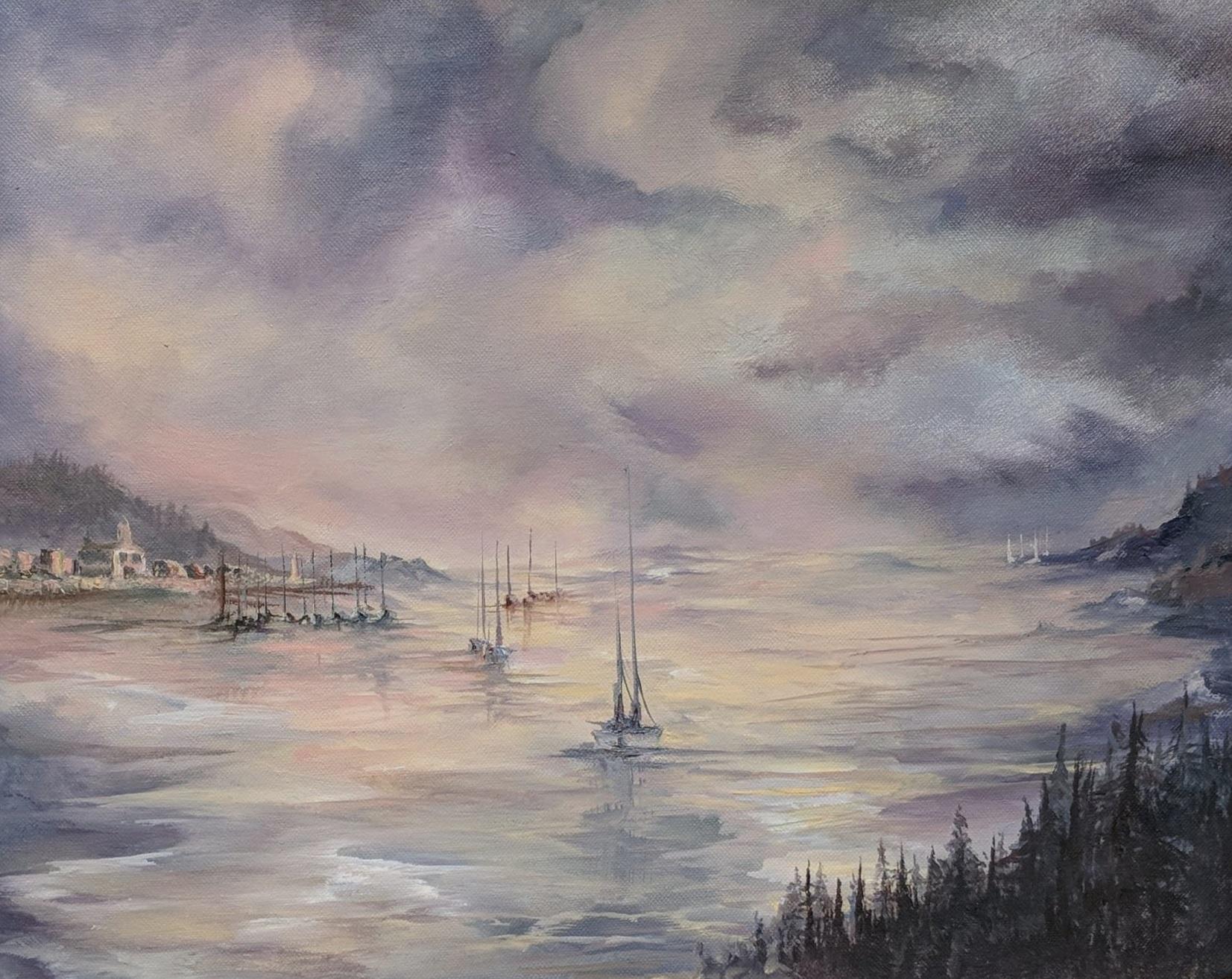 "Mirror Lake | 2018 | $580  Oil on canvas, 20"" x 30"""