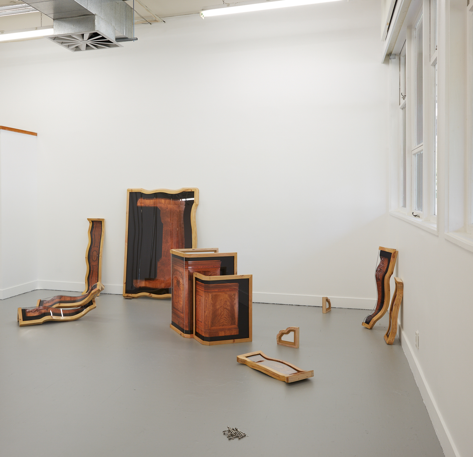 The time travelling object, installation view.