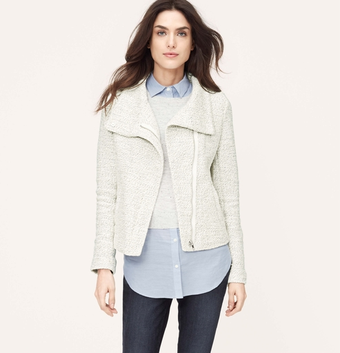 LOFT zip sweatshirt jacket