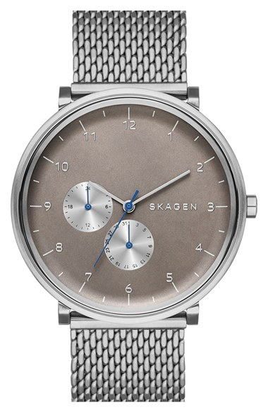 Skagen 'Hald' Multifunction Mesh Strap Watch, 40mm