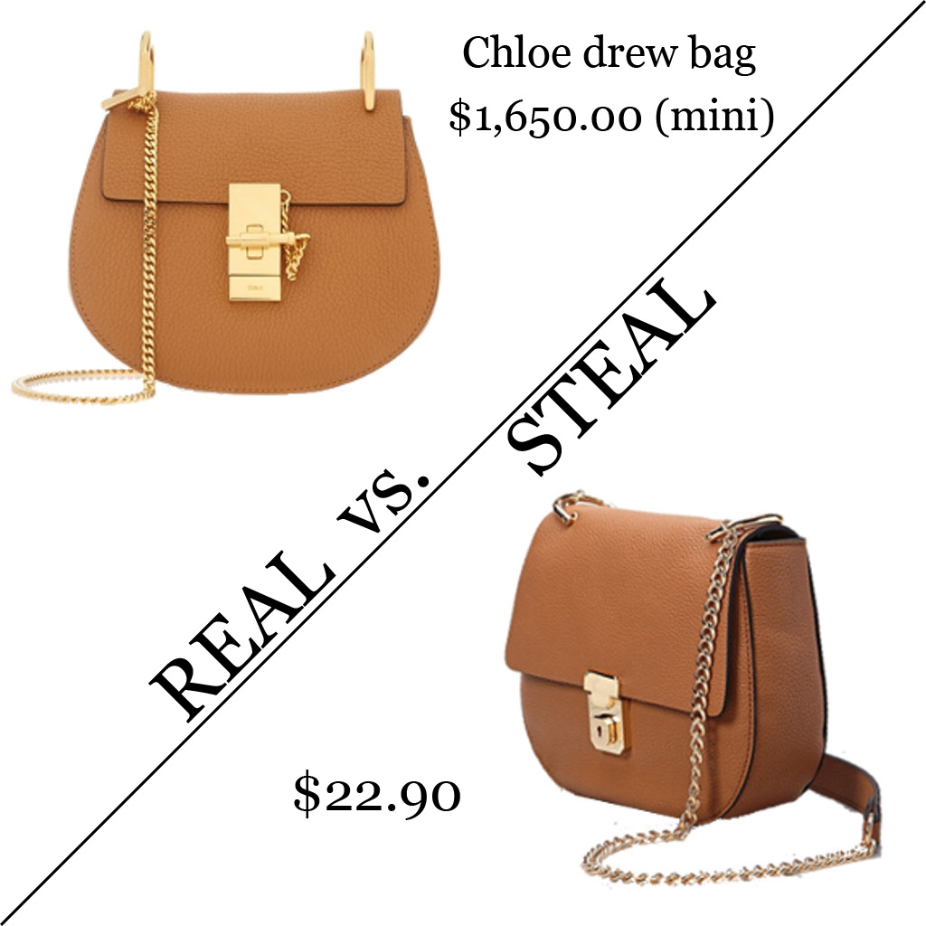 real vs. steal -- chloe drew bag