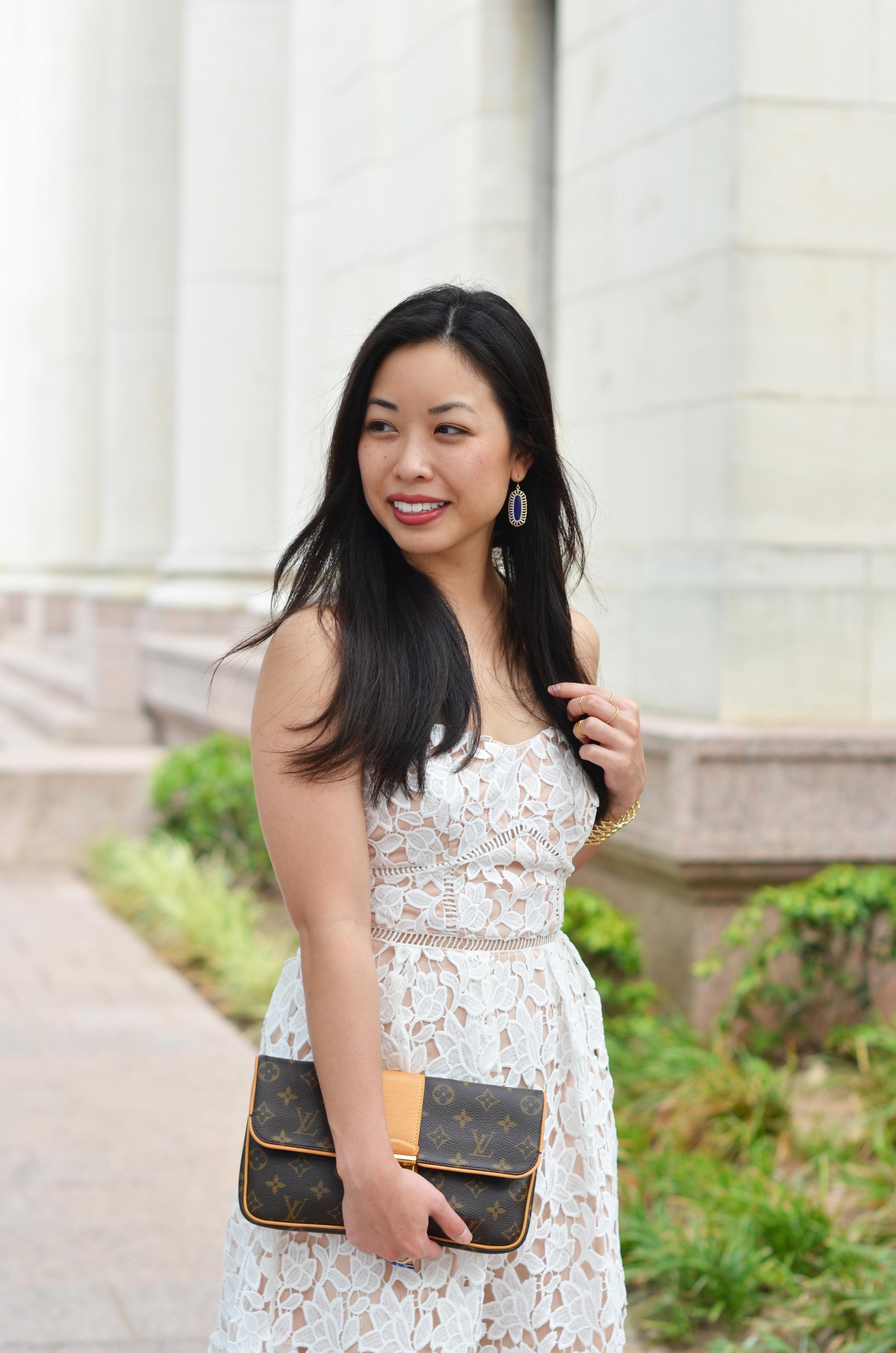 the white lace midi dress -- jannadoan.com