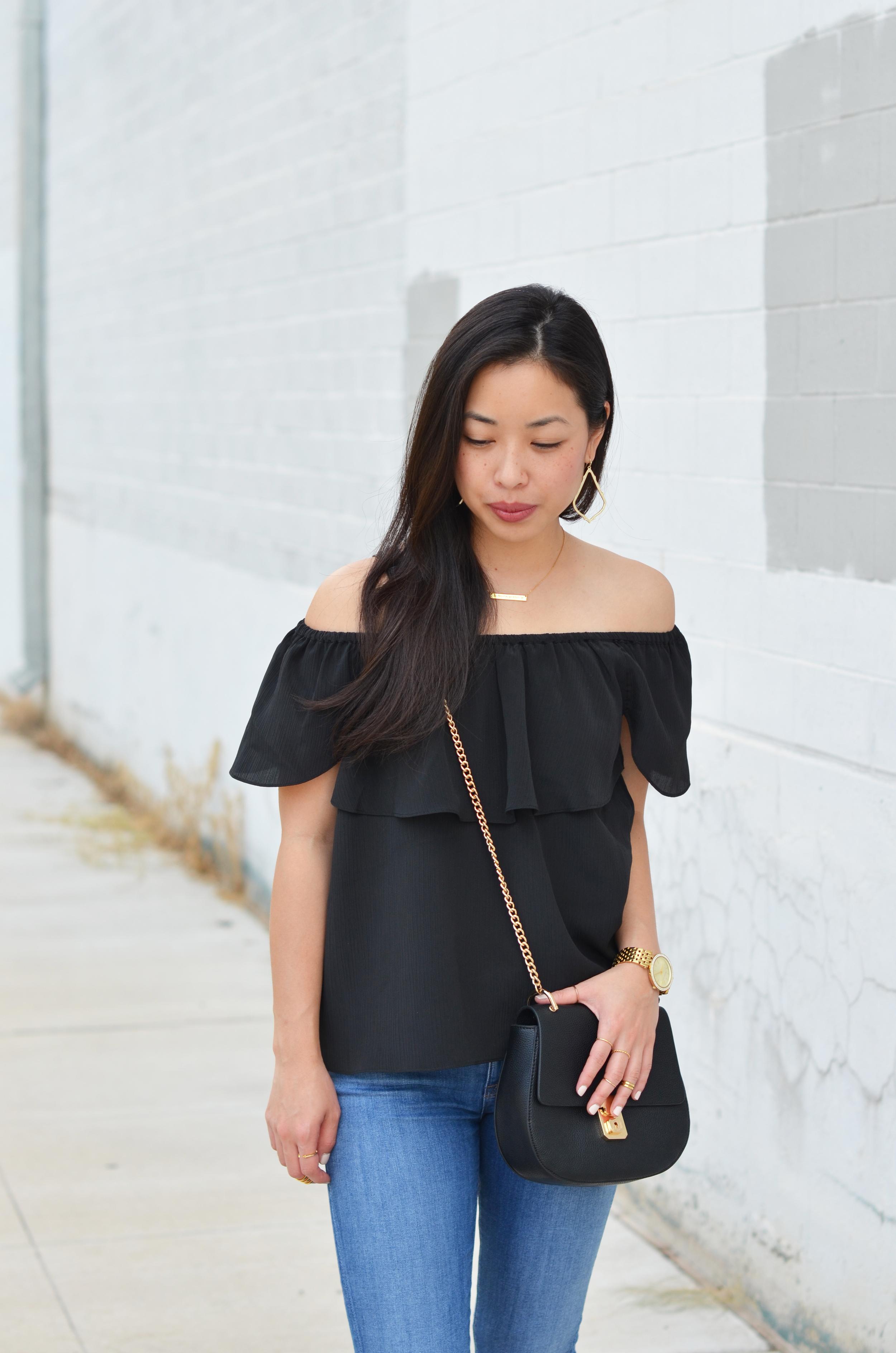 the black off shoulder top -- jannadoan.com