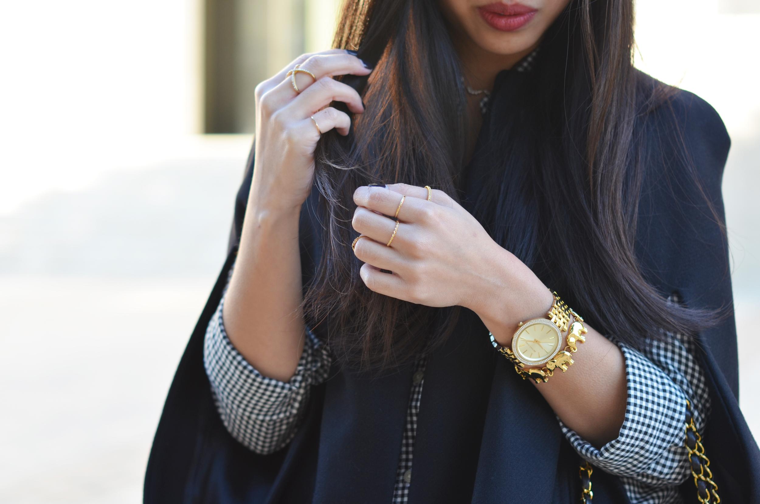 the black cape coat & gingham twill -- jannadoan.com