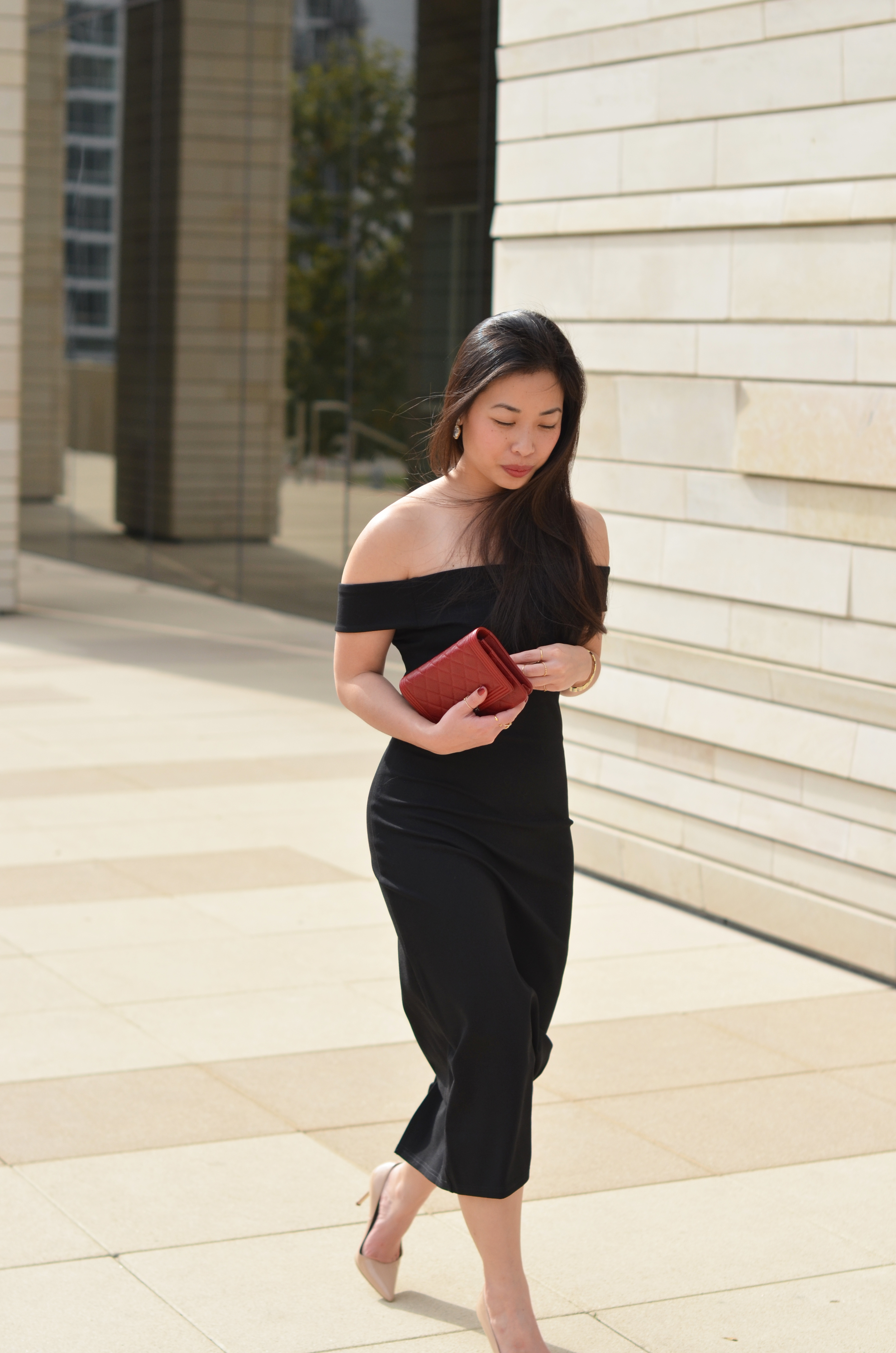 the off-shoulder bodycon dress -- jannadoan.com