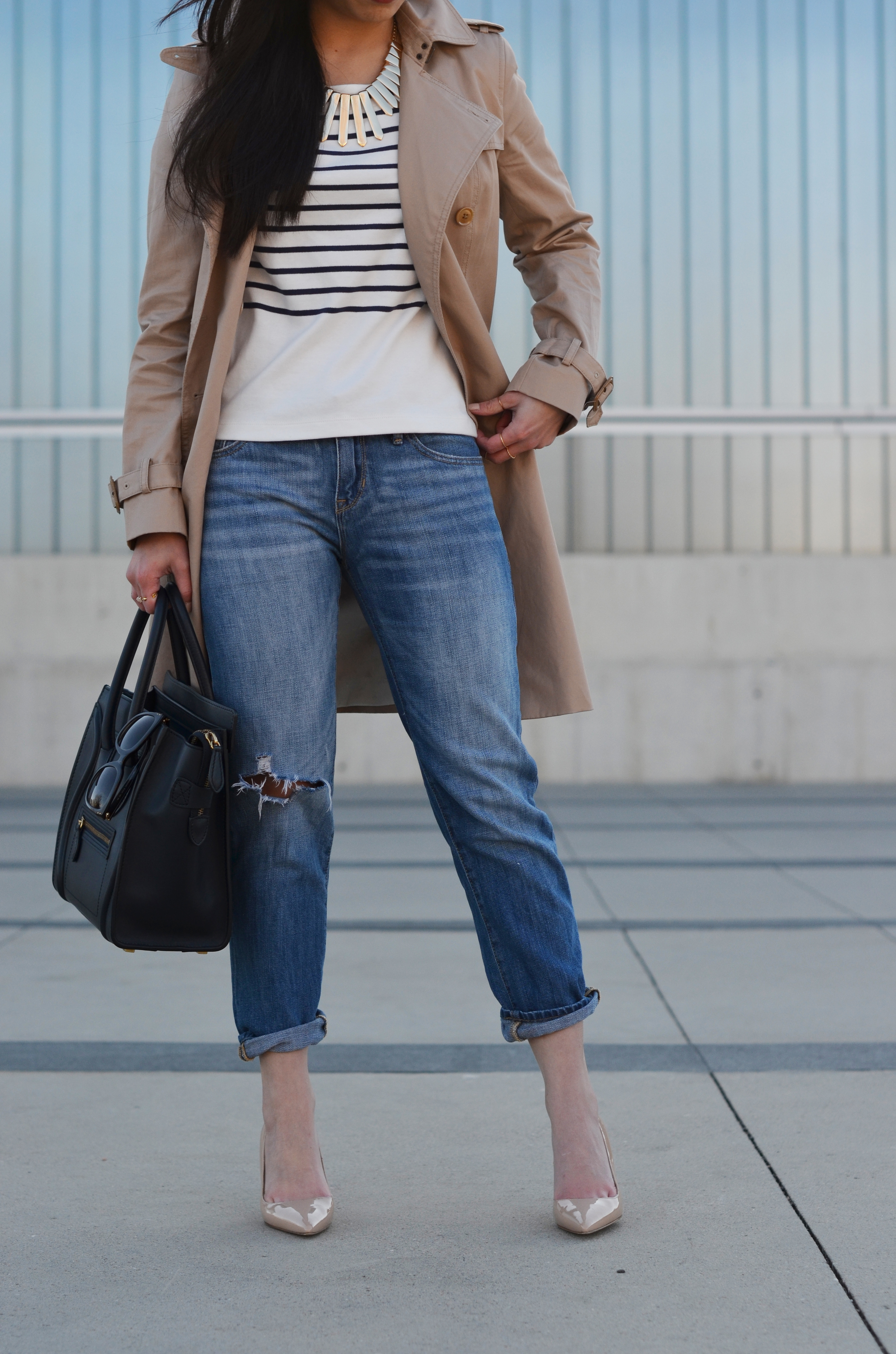 the spring trench & boyfriend jeans -- jannadoan.com