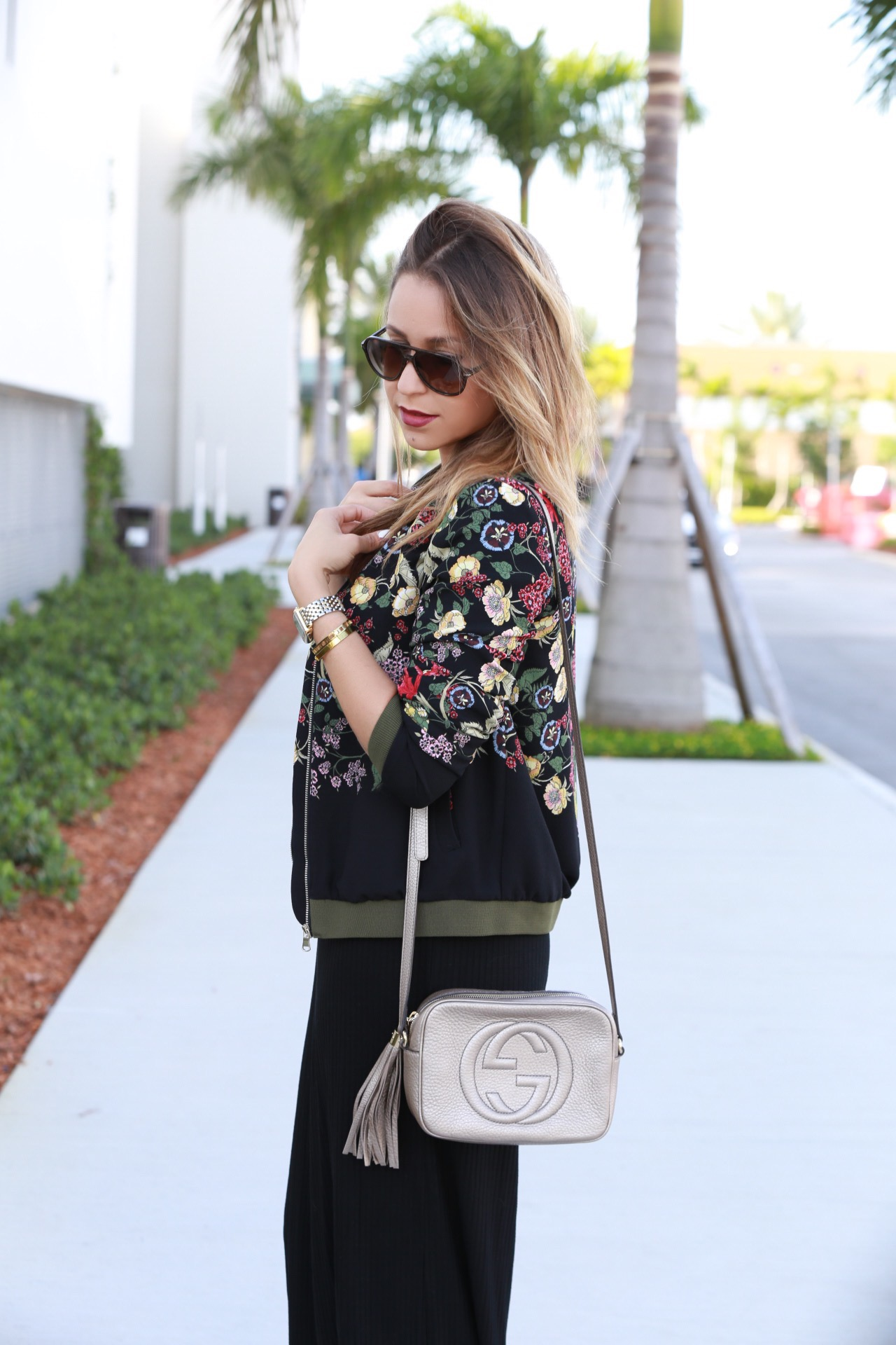 absolutely adore the floral detail on Vanessa's bomber jacket!