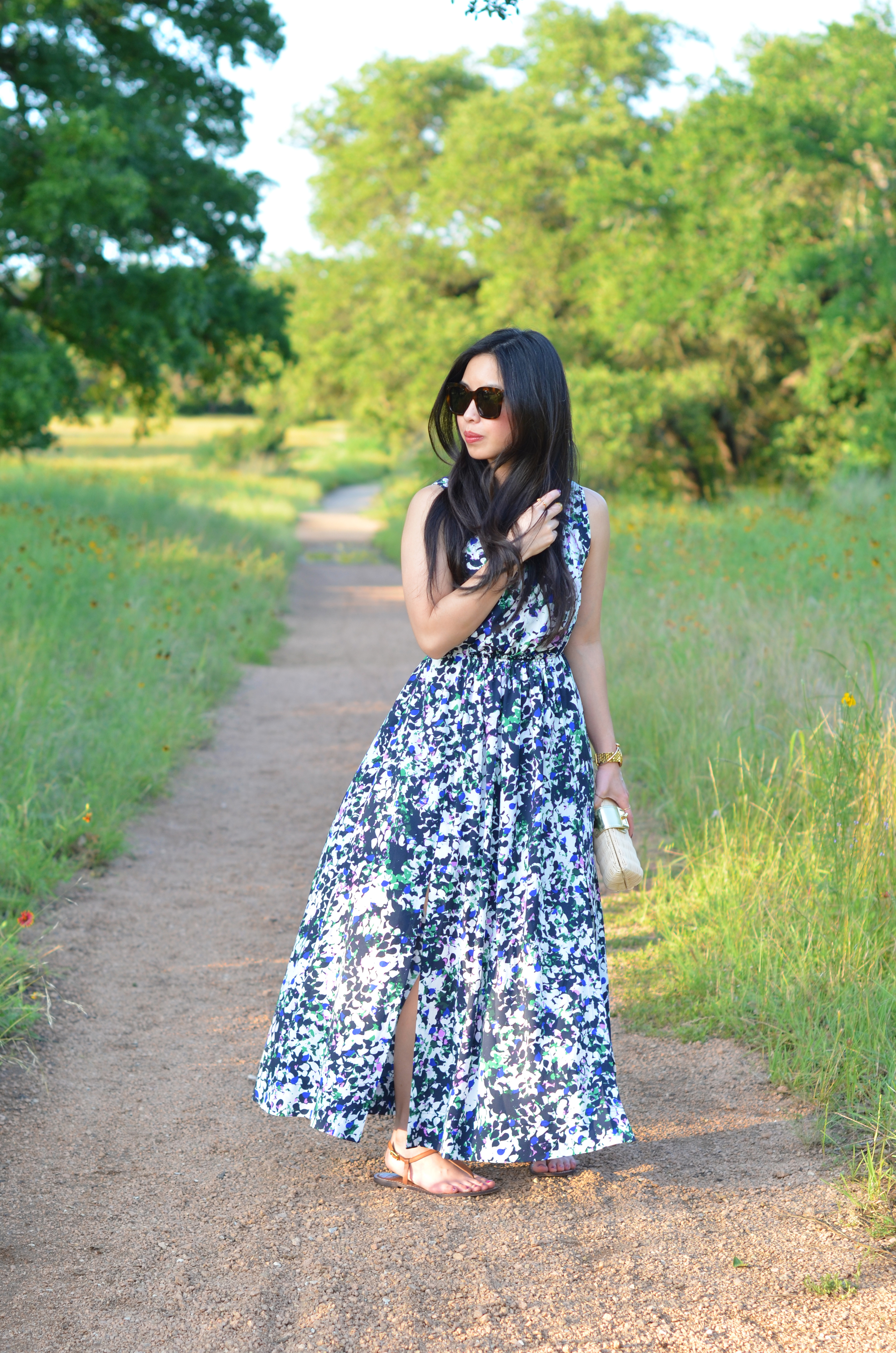 the floral maxi dress -- jannadoan.com