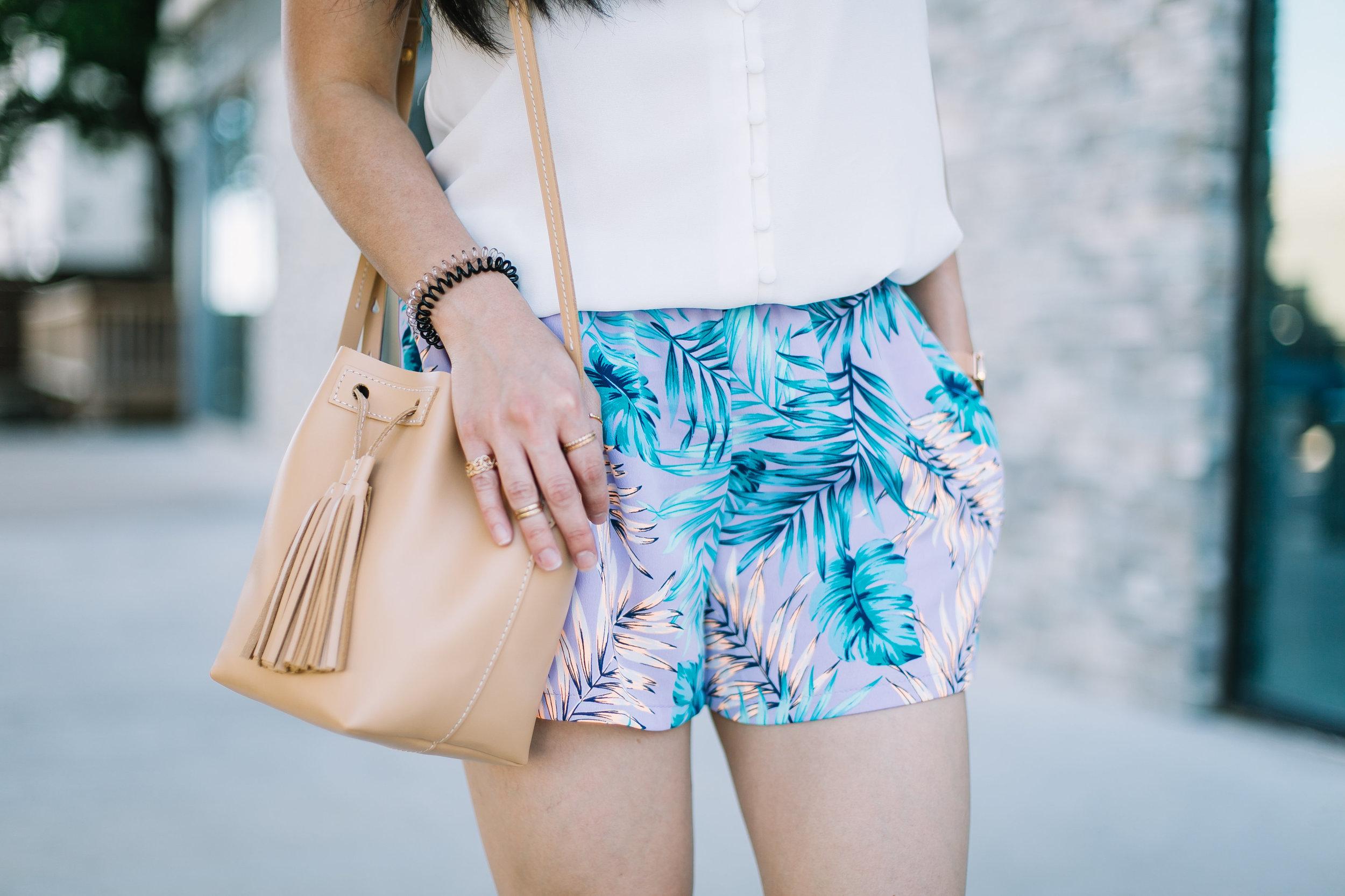 the ruffled cami & tropical shorts -- jannadoan.com