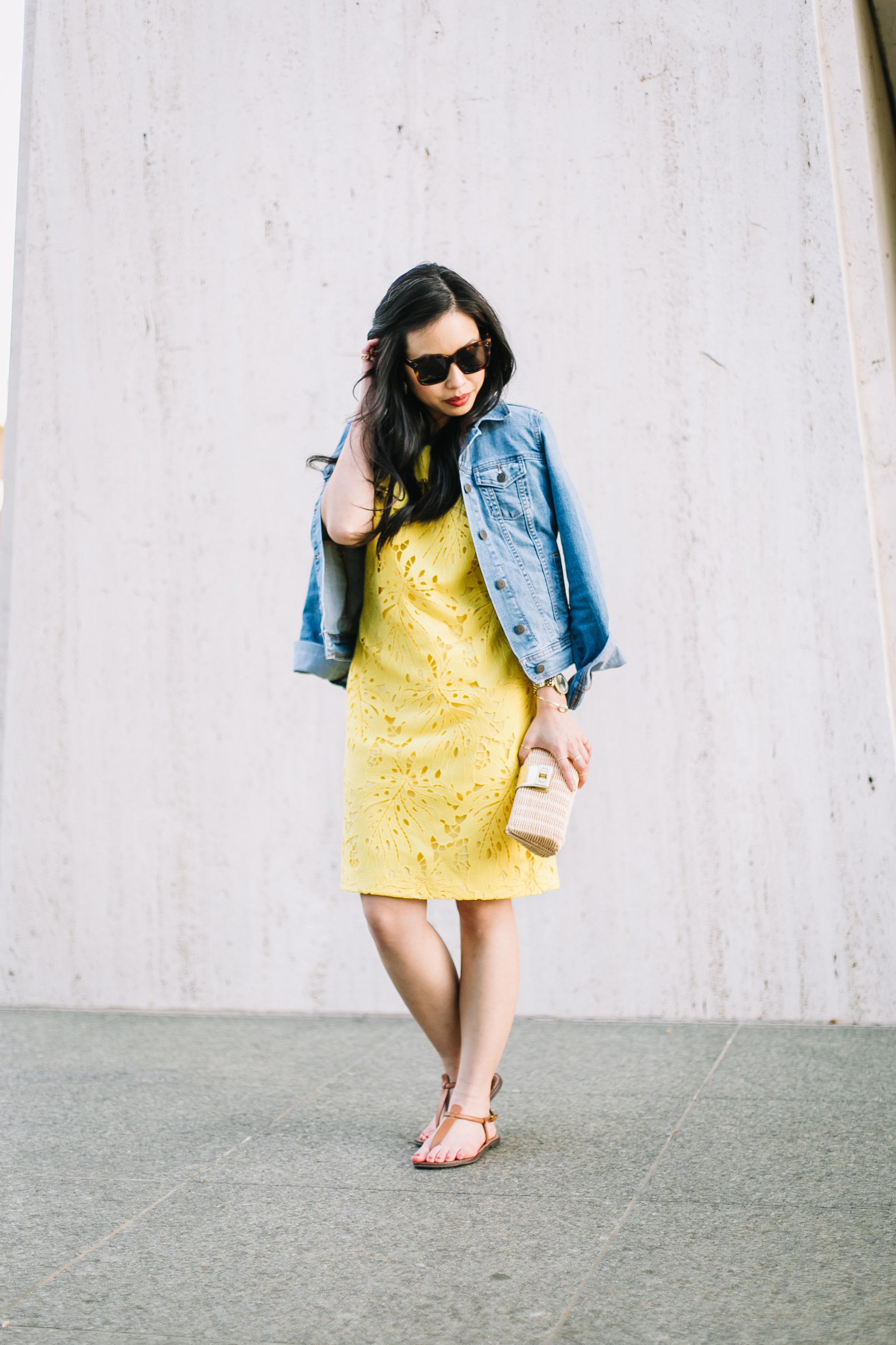 day to night in a lace shift dress -- jannadoan.com
