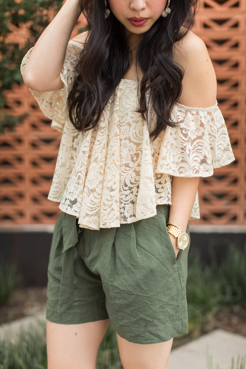 the lace off the shoulder top -- jannadoan.com