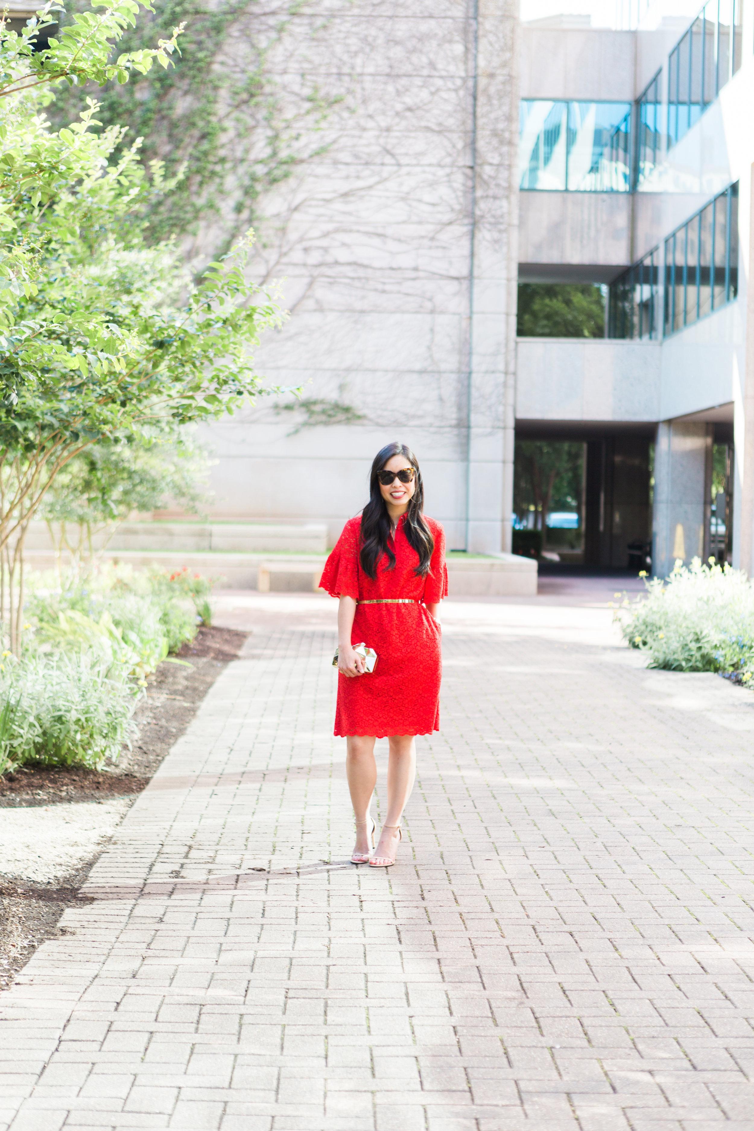 the flutter sleeve polo dress -- jannadoan.com