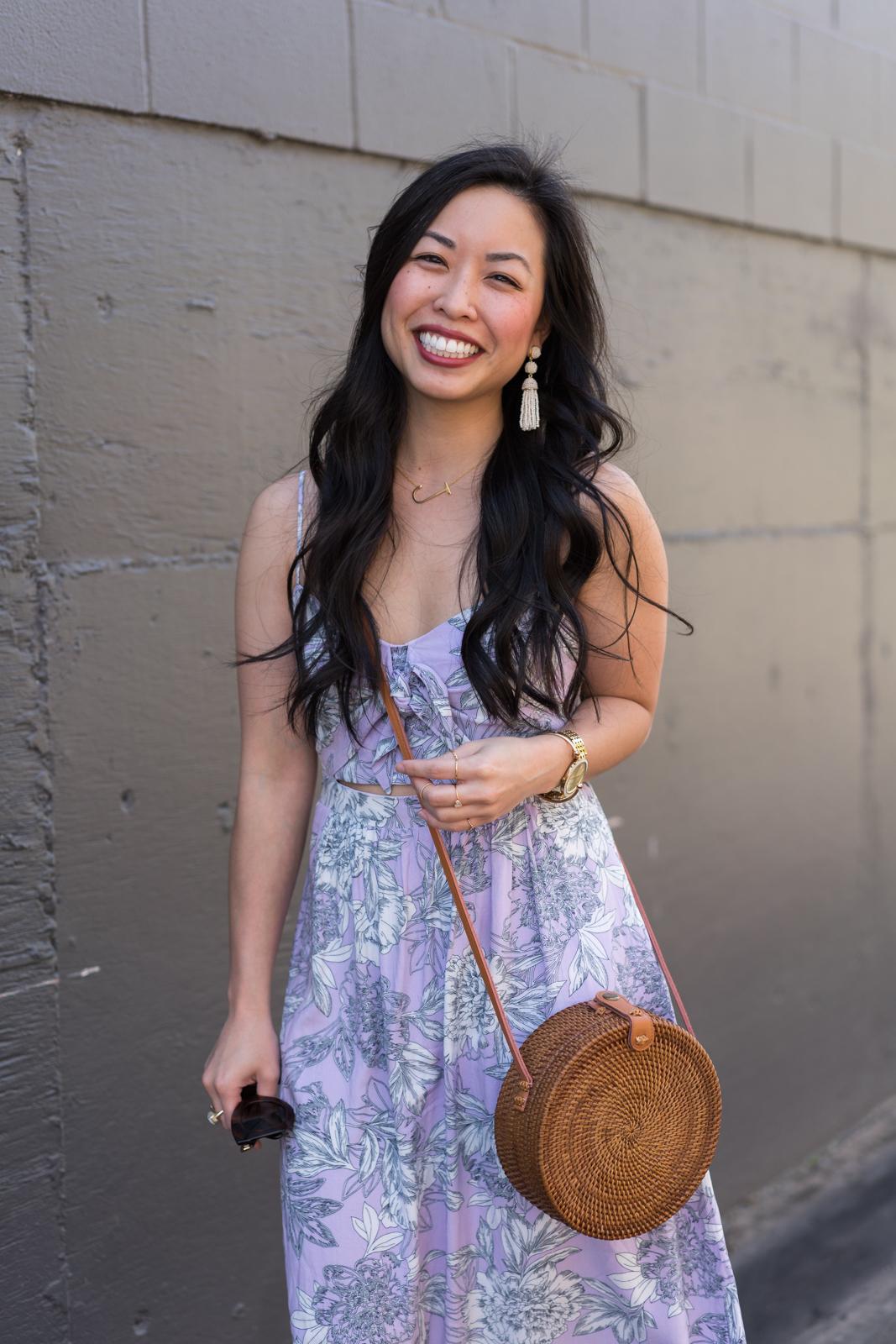 the floral cut out dress -- jannadoan.com
