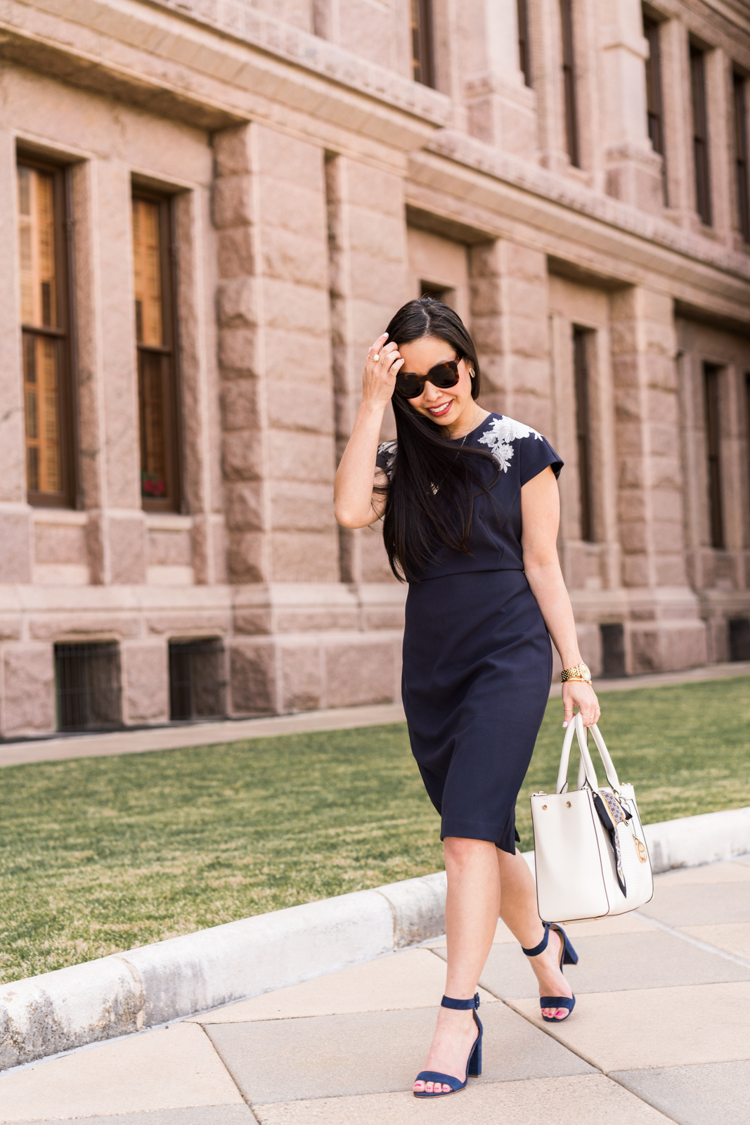 the navy sheath dress -- jannadoan.com