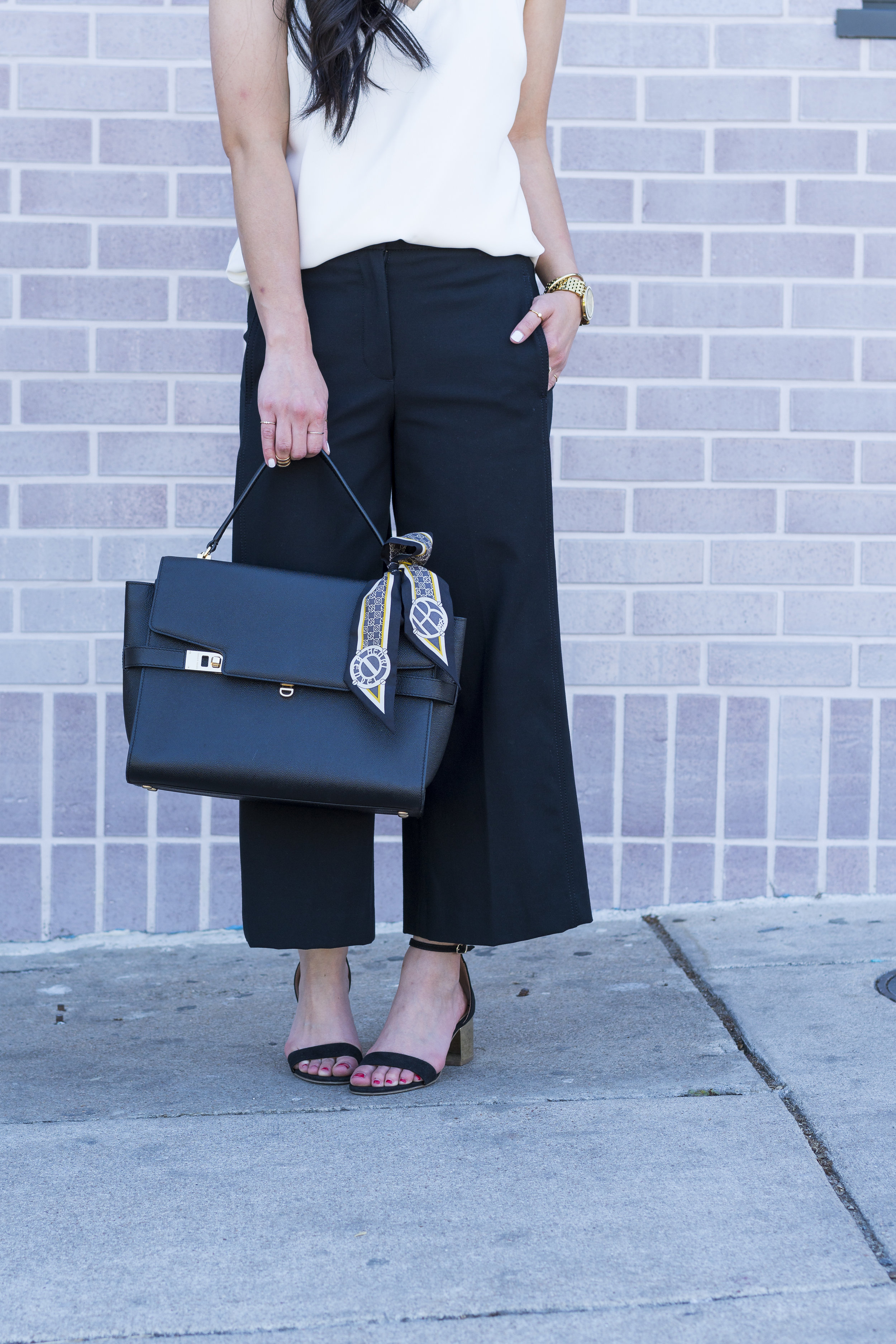 how to wear cropped wide leg pants -- jannadoan.com