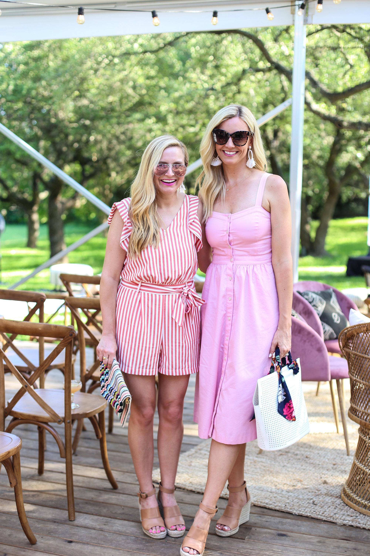 finally met  @hauteandhumid  (pink dress)